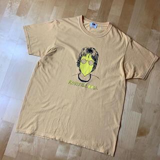 FRUIT OF THE LOOM ジョンレノン レモンTシャツ M 薄オレンジ