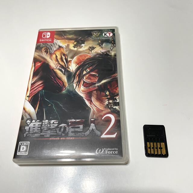 Nintendo Switch(ニンテンドースイッチ)の進撃の巨人2 エンタメ/ホビーのゲームソフト/ゲーム機本体(家庭用ゲームソフト)の商品写真