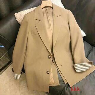 リラックスしたカジュアルなスーツのジャケットの女性の新しいプロファイルの感覚nL(テーラードジャケット)