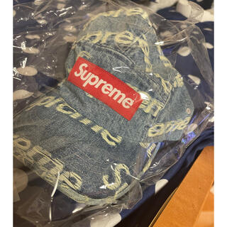 シュプリーム(Supreme)のSupreme Frayed Logos Denim Camp Cap Blue(キャップ)