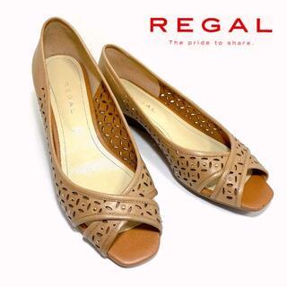 REGAL - REGAL リーガル 23.5cm スタッズオープントゥサンダル