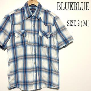 ブルーブルー(BLUE BLUE)のBLUEBLUE ブルーブルー ハリウッドランチマーケット ウエスタンシャツ M(シャツ)