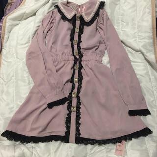スワンキス(Swankiss)のタグ付き♡HS lolita bijou O/P ピンク(ひざ丈ワンピース)