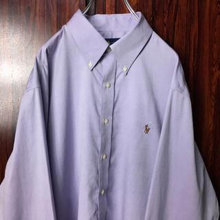 Ralph Lauren - ラルフローレン 刺繍ロゴ BDシャツ 紫 XL相当 ビッグシルエット