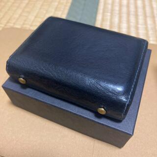 エムピウ(m+)のエムピウ ミッレフォッリエ P25  ネイビー/パープル(折り財布)