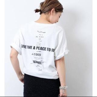 DEUXIEME CLASSE - ドゥーズィエム LOVE A PEACE バックプリントTシャツ新品未使用