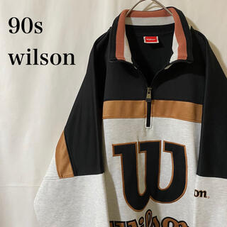 ウィルソン(wilson)の★ 90s vintege wilson ハーフジップ メッシュジャケット(ジャージ)