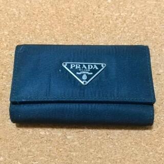プラダ(PRADA)のプラダ PRADA キーケース  NERO ブラック M222 箱 カード 袋有(キーケース)