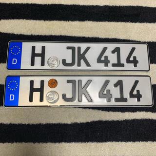 アウディ(AUDI)の414 本物 ドイツ ユーロナンバープレート BMW ベンツ アウディポルシェ(車外アクセサリ)