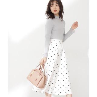 プロポーションボディドレッシング(PROPORTION BODY DRESSING)のプロポーション♡ドットフレアスカート2021SS(ひざ丈スカート)