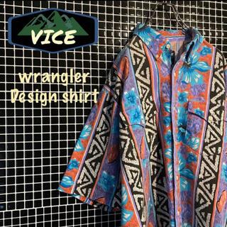 ラングラー(Wrangler)の極上★ wrangler/ラングラー 90's 総柄シャツ デザインシャツ 古着(シャツ)