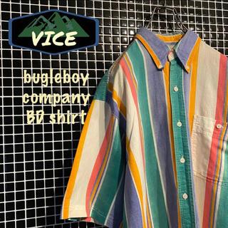 bugleboy/ビューグルボーイ マルチストライプシャツ BDシャツ 古着(シャツ)