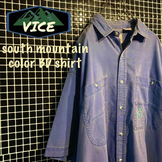 southmountain/サウスマウンテン カラーシャツ BDシャツ 刺繍ロゴ(シャツ)
