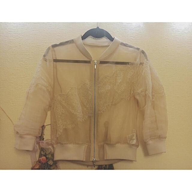 FRAY I.D(フレイアイディー)のフレイアイディー  シースルーブルゾン レディースのジャケット/アウター(ブルゾン)の商品写真