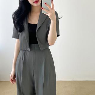 OHOTORO - 【予約商品】《3カラー》半袖セットアップ ピンタックパンツ 韓国ファッション