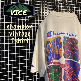 チャンピオン(Champion)の極上★ champion/チャンピオン ヴィンテージTシャツ 古着 デカプリント(Tシャツ/カットソー(半袖/袖なし))