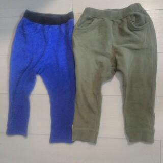 シマムラ(しまむら)の①SUNDEWDROP 緑 90センチと②しまむら 群青色 ズボン 90センチ (パンツ/スパッツ)