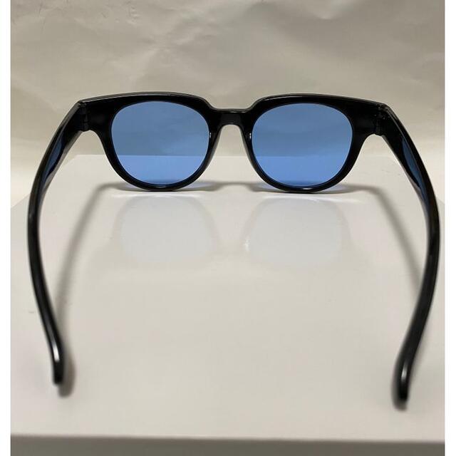 人気のブルーレンズウェリントンサングラス高級感抜群 メンズのファッション小物(サングラス/メガネ)の商品写真