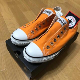 CONVERSE - ⭐︎新品⭐︎コンバース  スニーカー スリッポン オレンジ 24.5