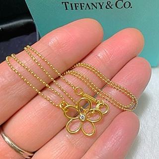 Tiffany & Co. - Tiffanyガーデンフラワーオープンダイヤk18ゴールドネックレス