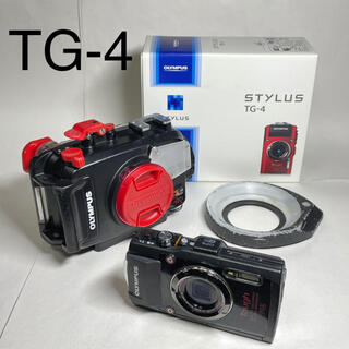 オリンパス(OLYMPUS)のOLYMPUS TG-4 ハウジングセット+リングディフューザー(コンパクトデジタルカメラ)