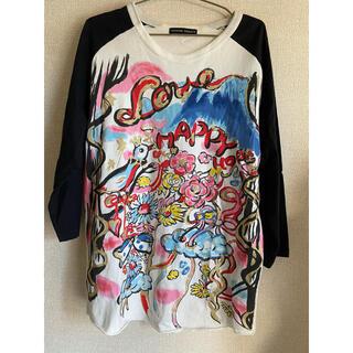 ツモリチサト(TSUMORI CHISATO)の古着 Tsumori Chisato ツモリチサト ペイント 7分丈 Tシャツ(Tシャツ/カットソー(七分/長袖))