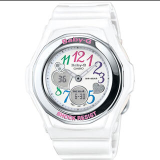 ベビージー(Baby-G)のCASIO BABY-G カシオ ベビーG 腕時計 レディース 白(腕時計)