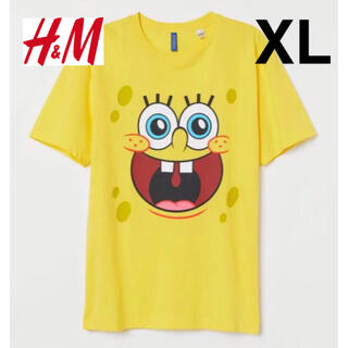 エイチアンドエム(H&M)の新品 安値 H&M× スポンジボブ SpongeBob Tシャツ XL(Tシャツ/カットソー(半袖/袖なし))