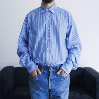 COMOLI - L'ECHOPPE ストライプ  WIDE レギュラーカラーシャツ