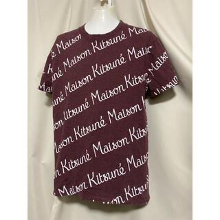 メゾンキツネ(MAISON KITSUNE')の定価17600円 MAISON KITSUNE ブランドロゴ 総柄 Tシャツ(Tシャツ/カットソー(半袖/袖なし))
