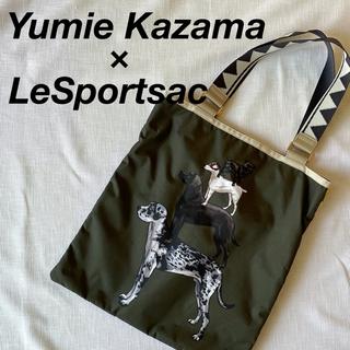 LeSportsac - 美品 限定コラボ 風間ゆみえ レスポートサック 犬 ドッグ トートバッグ