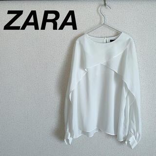 ZARA - 美品 ZARA ブラウス ホワイト 夏 シフォン
