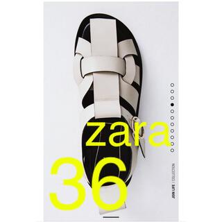 ZARA - ZARA フラットレザーサンダル 36