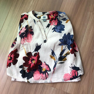 オールドネイビー(Old Navy)の花柄 タンクトップ チュニック(Tシャツ/カットソー)