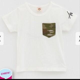 アナップキッズ(ANAP Kids)のANAPkids新品迷彩ポケット付きTシャツ(Tシャツ/カットソー)