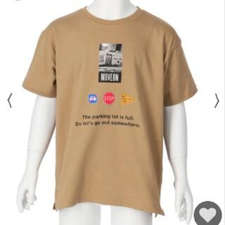 アナップキッズ(ANAP Kids)のANAPkids新品フォトプリントTシャツベージュ(Tシャツ/カットソー)