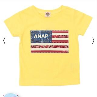 アナップキッズ(ANAP Kids)のANAPkids新品USAフラッグTシャツ(Tシャツ/カットソー)