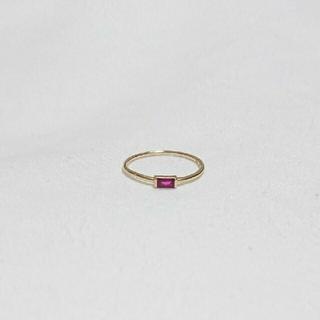 ココシュニック(COCOSHNIK)のココシュニック ルビーリング(リング(指輪))