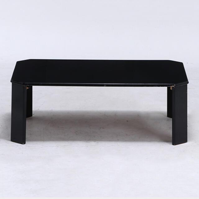新品 送料込 UVローテーブル ルーチェ 幅90cm ブラック インテリア/住まい/日用品の机/テーブル(ローテーブル)の商品写真