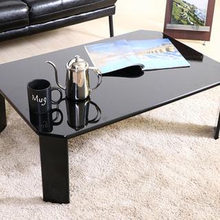 新品 送料込 UVローテーブル ルーチェ 幅75cm ブラック(ローテーブル)
