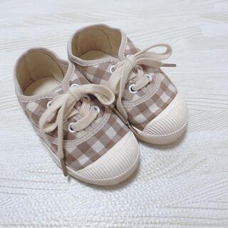 futafuta - check shoes ♡ チェック シューズ スニーカー 韓国子供服