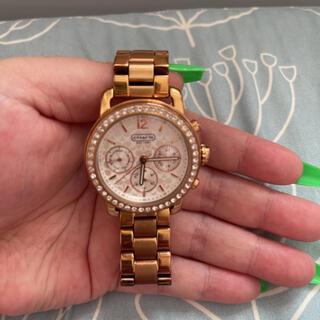 コーチ(COACH)の【値下交渉可能‼️】腕時計 COACH レディース ゴールド(腕時計)