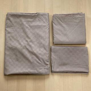 シマムラ(しまむら)のしまむら タイル柄 布団カバー 3点セット シングル(シーツ/カバー)