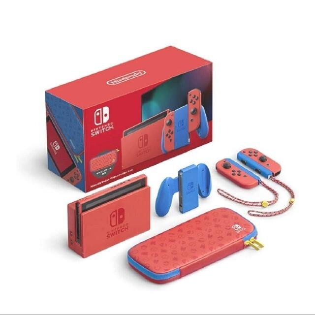 Nintendo Switch(ニンテンドースイッチ)のNintendo Switch マリオレッド×ブルー セット 本体 新品未開封 エンタメ/ホビーのゲームソフト/ゲーム機本体(家庭用ゲーム機本体)の商品写真