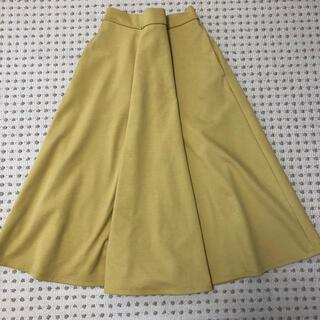 ジーユー(GU)のマスタード フレアスカート(ひざ丈スカート)