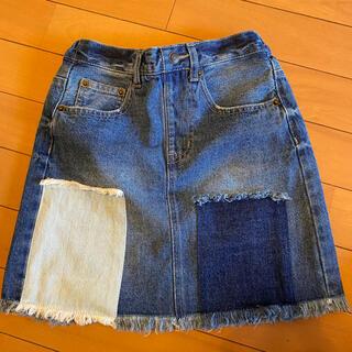 エムピーエス(MPS)のデニムスカート キッズ140(スカート)