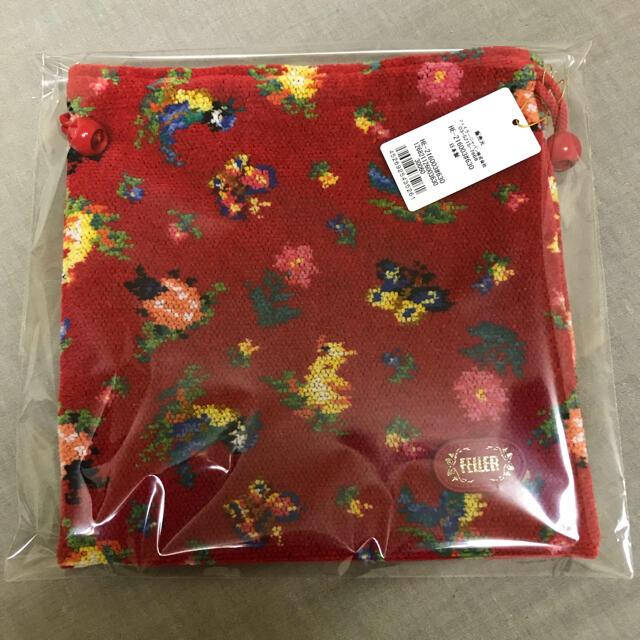 FEILER(フェイラー)のフェイラー ハイジ レッド 巾着 ポーチ 新品未開封 レディースのファッション小物(ポーチ)の商品写真