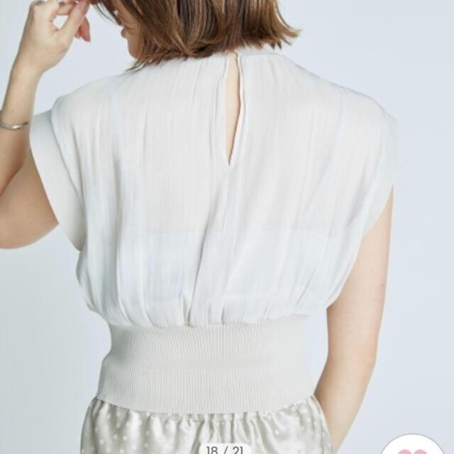 FRAY I.D(フレイアイディー)のニットドッキングトップス レディースのトップス(シャツ/ブラウス(半袖/袖なし))の商品写真