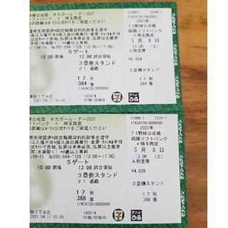 ソフトバンク(Softbank)の福岡ソフトバンクホークス 5/8 2枚 タカガール(野球)