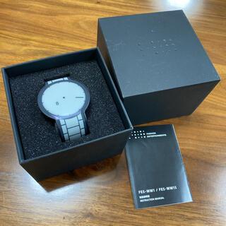 ソニー(SONY)のSONY 腕時計 フェスウォッチ FES-WM1 ブラック(腕時計(デジタル))